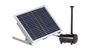 bomba solar para fuente y estanque